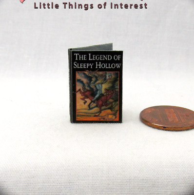 THE LEGEND OF SLEEPY HOLLOW Miniature Book Readable Illustrated Book 1:12 Scale