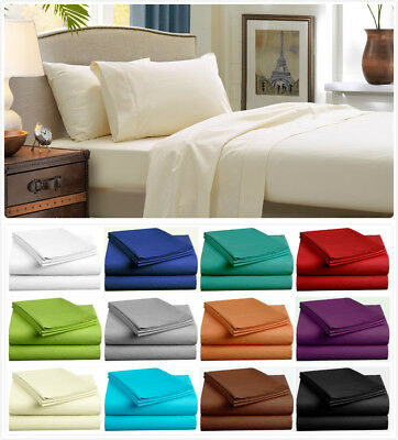 1000TC Ultra Soft Microfiber (3PC FITTED SHEET SET) or (4PC SHEET SET) Bed New