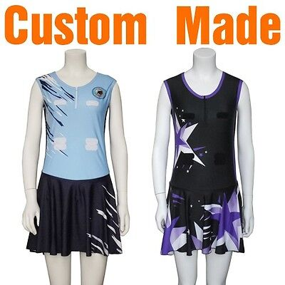 Custom Made Netball Bodysuits Dresses Tops Skirts Sublimation
