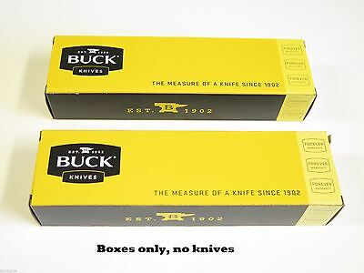 LOT of 2 BUCK 8.5 long KNIFE BOX FOLDING HUNTER RANGER 196 500 426 422 112