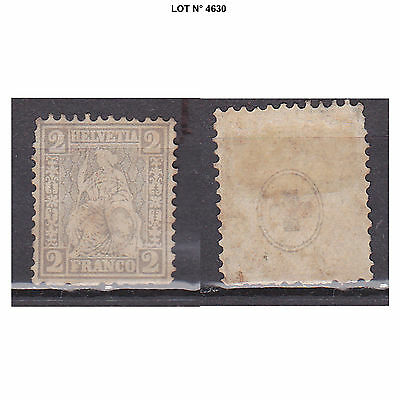 004630 LOT SUISSE HELVETIA 1 TIMBRES N° 33 Neuf sans gomme
