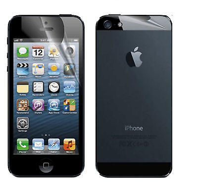 Front and Back Clear Invisible LCD Screen Protector for New Apple iPhone 5 5G