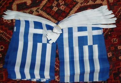 Greek Patriot Bunting 9m Hellas Athens Orthodox Greece Tourism Sport Business bn