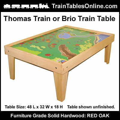 FINISHED OAK TRAIN TABLE Playtable for THOMAS Playboard