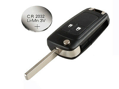 Fits Vauxhall Opel Astra Insignia Corsa 2 Button FOB Remote Key CASE + battery