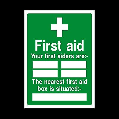 FIRST AIDERS SIGN FS083 SAFETY STICKER RIGID INDOOR OUTDOOR Buy 2 get 1 Free