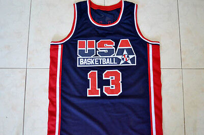 095ceff6c0dd CHRIS MULLIN  13 Team Usa Basketball Jersey Navy Blue - Any Size ...