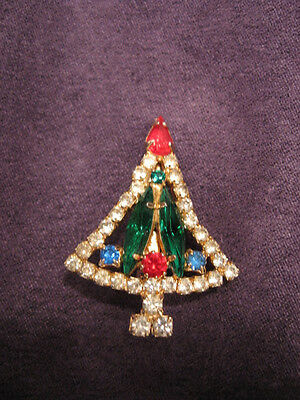 Christmas tree pin brooch L6