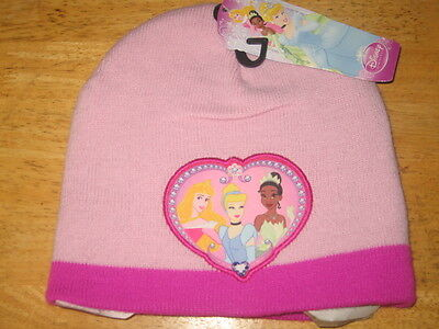 NWT Toddler Girls Disney Princess Beanie - One Size Fits Most