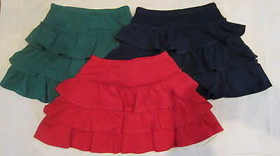 Mini Boden Ruffle Tiered Jersey Winter Skirt 3 Colours Ages 1 -14  Bnwot