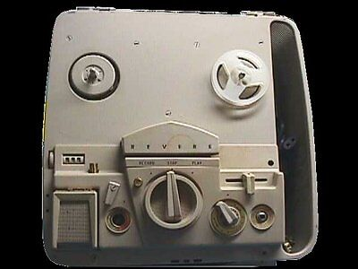Revere Camera CO, T1100, suitcase style, vintage, magnetic tape recorder