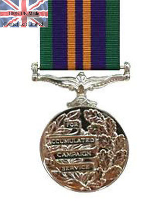 Official Accumulated Campaign Service Medal ACSM Miniature Medal + Ribbon 2011