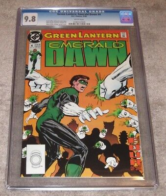 Green Lantern: Emerald Dawn #4 from 1990 CGC 9.8 White HIGHEST GRADED