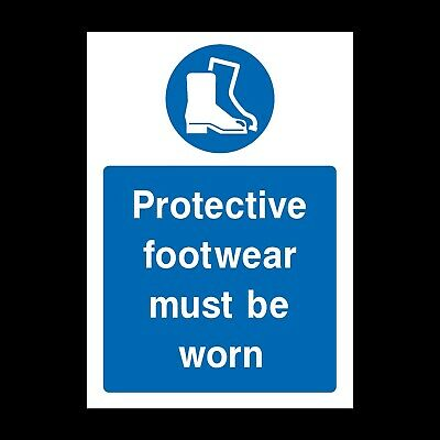 Protective Footwear Sign & Sticker All Sizes! All Materials! Free P+P (Mppe35)