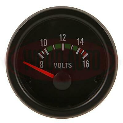 New Voltmeter 8 - 16 Volt  Dashboard Gauge Meter Clock Analogue Cargo 160695