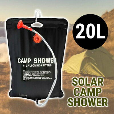 Camping Shower Portable 5 Gallon, Solar Bath Outdoor PVC Washing Cleaning Travel