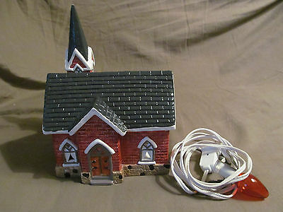 Yuletide Christmas Village St. Mary's Church Lighted Ceramic House 1989 Decor