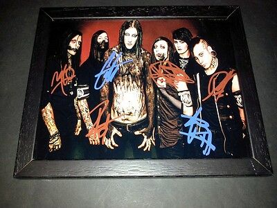 """Motionless In White Band X6 Pp Signed & Framed 10""""x8"""" Inch Chris Repro Cerulli"""