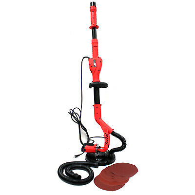 Deluxe 5 Speed Electric Swivel Drywall Ceiling Handheld Sander 6FT Pole & Paper