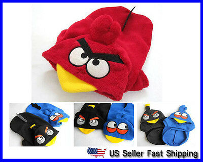 US Seller Pet Dog Cat Angry Birds Costume Hoodie Clothes XS S M L XL XXL