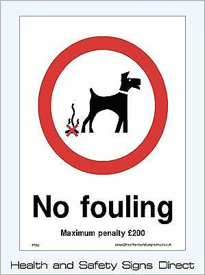 No Fouling Signs & Stickers All Sizes! All Materials! Free P+P (Ppa6)