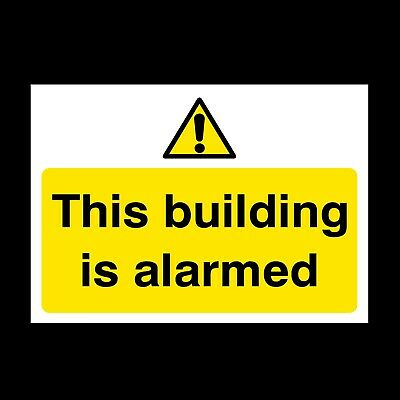 This Door Is Alarmed Signs & Stickers All Sizes! All Materials! Free P+P (S54)