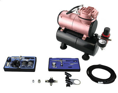 """""""Flowze"""" COMPRESSOR TANK AIRBRUSH KIT (OPTION 1)- AS-186 WITH COPPER WOUND MOTOR"""