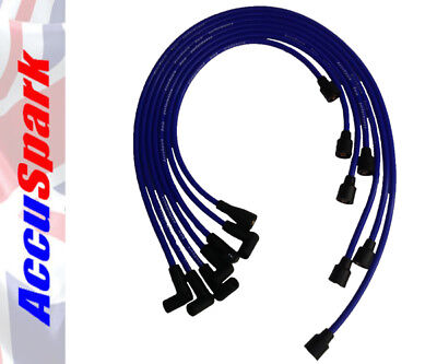 Genuine AccuSpark 8mm Blue Silicon High Performance HT Leads for Jaguar E-Type