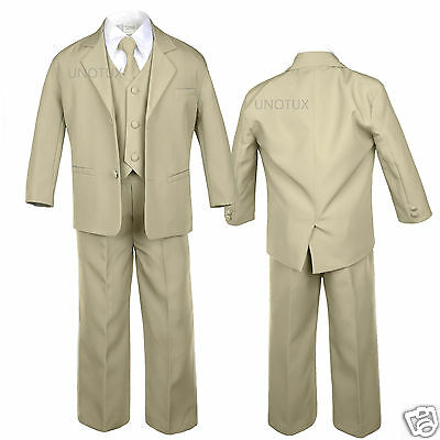 Baby Infant Toddler Kids Teens Boys Formal Wedding Tuxedos Suits Vest Sets S-20