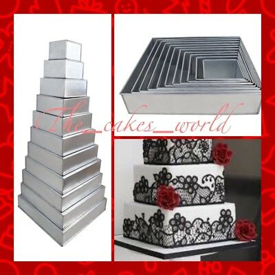 11 Tier Square Multilayer Wedding Cake Tins