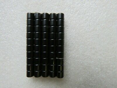 2 pairs - 100 Pairs of BLACK Strong Magnetic Clasps 6mm x 5mm Jewellery Making