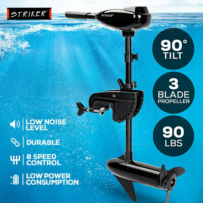 NEW 45LBS Electric Trolling Motor Inflatable Boat Fishing Marine Outboard Engine
