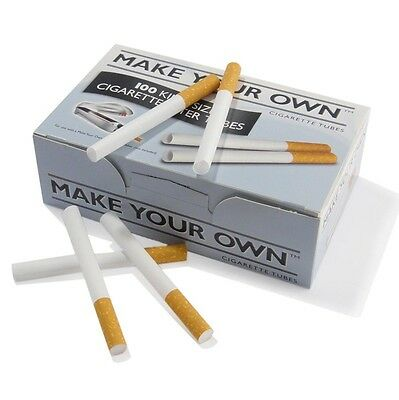 Make Your Own RIZLA CIGARETTE King Size Filter Tubes... Box of 100.. New Concept