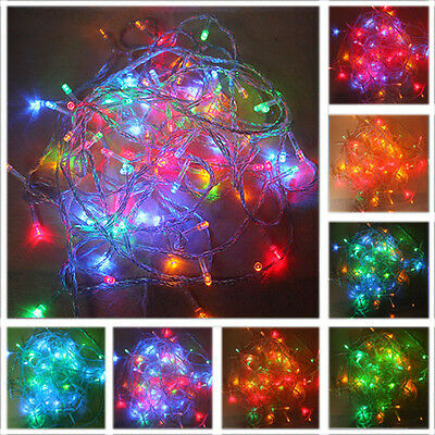 New 10 20 30M 100 LED/10M Christmas Tree Fairy String Lights Party Xmas 7colors
