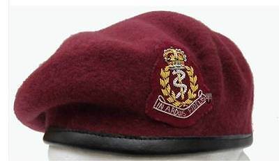 Quality RAMC Maroon Beret All Sizes + Officer Cap Badge ( Airborne Para New