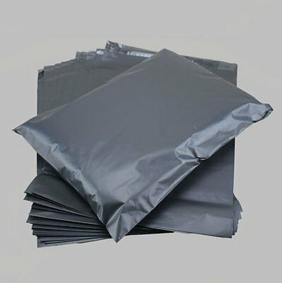 100 Grey MAILING BAGS in Assorted Sizes.. mixed mix mailers.. Large Medium Small