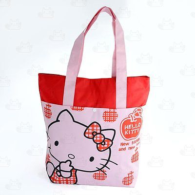Hello Kitty Large Canvas Tote Shopping Carry Shoulder Bag #631CKT01