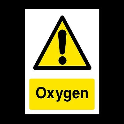 Oxygen Signs & Stickers All Sizes! All Materials! Free P+P (Wcd71)