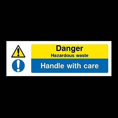 Hazardous Waste Signs & Stickers All Materials! All Sizes! Free P+P (Wcd38)