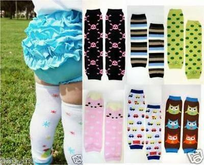 Boy/Girl Striped Cotton Baby Toddler Arm Leg Warmers Leggings Kids Long Socks OS