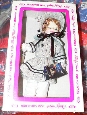 """12"""" Ideal Shirley Temple doll  with bonnet and black ribbon  c.1982"""