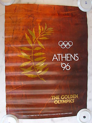 Official Authentic Poster For Athens 1996 Candidate City For 1996 Olympic Games