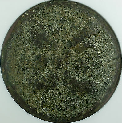 Double-head of Janus Bronze As Roman Republic After 211 BC, NGC Ch VF Ancient