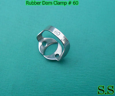 Endodontic Rubber Dam Clamp #60 Surgical Dental Instruments