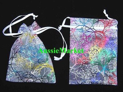 20 x organza gift bags pouch favour wedding party jewellery ring beads white new
