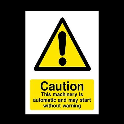 Machine Automatic Sign & Stickers All Sizes! All Materials! Free P+P (Wg57)