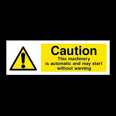Automatic Machine Signs & Stickers All Materials! All Sizes Free P+P (Wg21)
