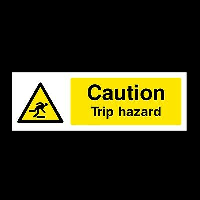 Caution - Trip Hazard Signs & Stickers All Materials! All Sizes Free P+P (Wg17)