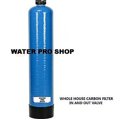 Whole House Water Filter System UDF Carbon (IN & OUT) No Electricity Required.