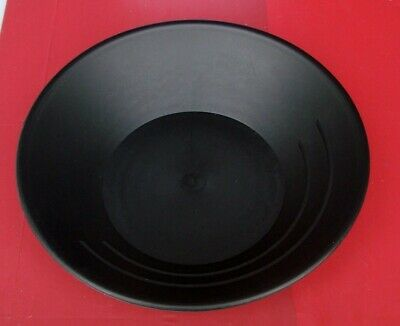 "Gold Pan Mining Panning plastic Prospecting for Miners NEW 10"" BLACK"